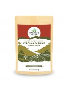 CURCUMA EN POLVO 100GR BIO - ORGANIC INDIA - 801541511587
