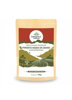 PIMIENTA NEGRA EN GRANO 100GR - ORGANIC INDIA - 801541514403