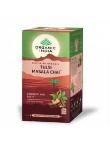 TULSI MASALA CHAI 25 BOLSITAS BIO - ORGANIC INDIA - 801541080434