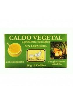 CALDO VERDURA CUBITOS SIN LEVADURA 66GR BIO - PALOMA BLANCA - 8436000542813