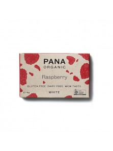 TABLETA DE CHOCOLATE BLANCO CON FRAMBUESAS 45GR BIO - PANA CHOCOLATE - 9346758000789