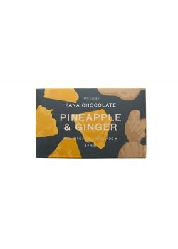 TABLETA DE CHOCOLATE RAW PIÑA - JENGIBRE 45GR BIO - PANA CHOCOLATE - 9346758001694