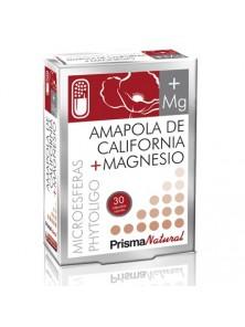 **AMAPOLA DE CALIFORNIA + MAGNESIO 30 CÁPSULAS - PRISMA NATURAL - 8436048047547