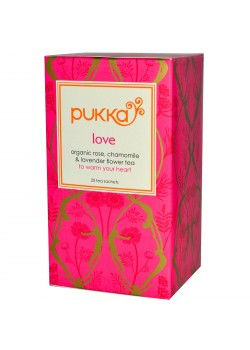 INFUSION LOVE ROSA MANZANILLA LAVANDA 20 BOLSITAS BIO - PUKKA - 5060229013675