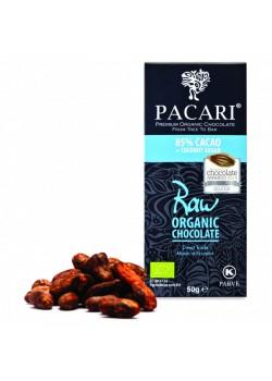 TABLETA DE CHOCOLATE RAW 85% 50GR BIO - PACARI - 7862109270516