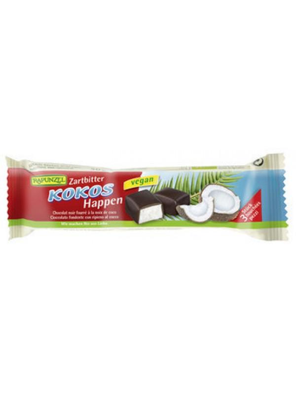 BARRITA DE COCO CUBIERTA DE CHOCOLATE NEGRO 50GR BIO - RAPUNZEL - 4006040054429