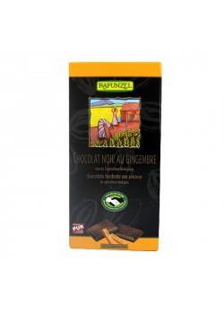 TABLETA DE CHOCOLATE Y JENGIBRE 80GR BIO - RAPUNZEL - 4006040013457