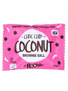 BROWNIE BALL CHOCO CHIP COCONUT 40GR BIO - ROO'BAR - 3800232736336