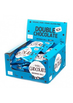 BROWNIE BALL DOUBLE CHOCOLATE 40GR BIO - ROO'BAR - 3800232736329