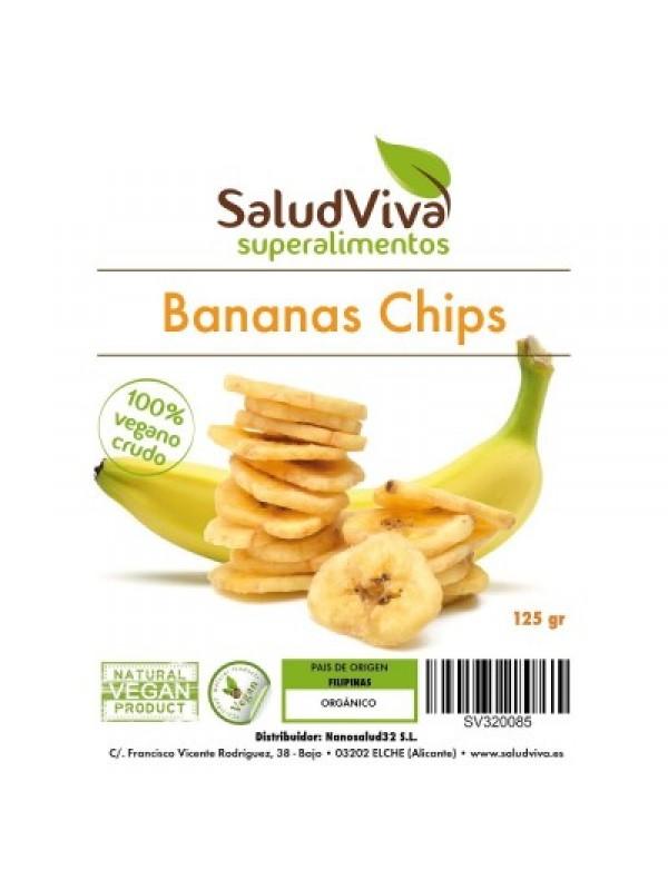 BANANAS CHIPS 125GR BIO - SALUD VIVA - 0012330000001