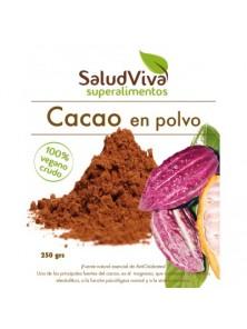CACAO EN POLVO CRUDO 250GR BIO - SALUD VIVA - 0000680000000