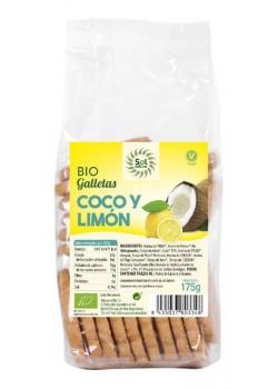 GALLETAS CON COCO Y LIMÓN BIO 175GR - SOL NATURAL - 8435037803348