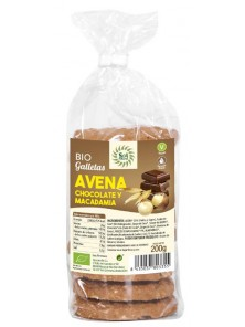 GALLETAS AVENA CHOCOLATE Y MACADAMIA BIO 200GR- SOL NATURAL - 8435037803355