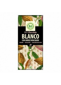 TABLETA DE CHOCOLATE BLANCO Y ARROZ HINCHADO 70GR BIO - SOL NATURAL - 8435037801986