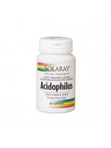 ACIDOPHILUS PLUS 30 CAPSULAS - SOLARAY - 076280048254