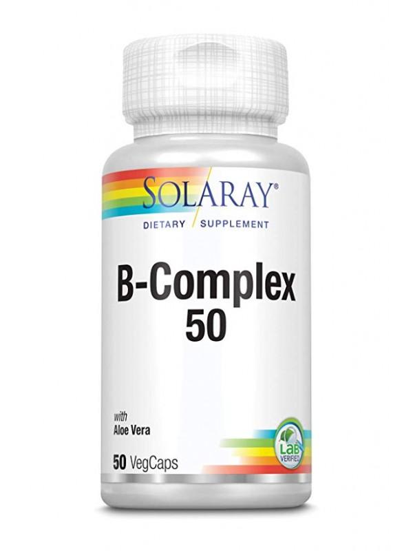 B-COMPLEX 50 50 CAPSULAS - SOLARAY - 076280130171