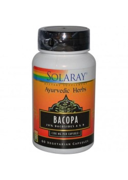 BACOPA 100MG 60 CÁPSULAS - SOLARAY - 076280596441