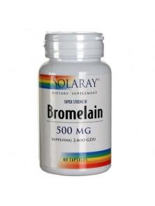 BROMELAINA 60 CAPSULAS - SOLARAY - 076280048438