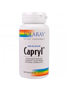 CAPRYL - ACIDO CAPRILICO 100 CAPSULAS - SOLARAY - 076280081305