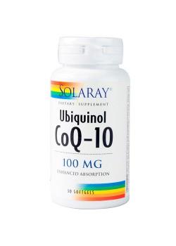 COENZIMA Q10 UBIQUINOL 100MG 30 CAPSULAS - SOLARAY - 076280823608
