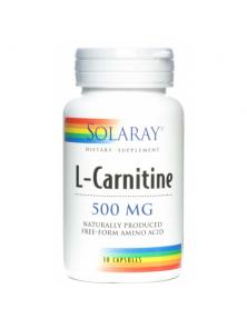 L-CARNITINA 500MG 30 CAPSULAS - SOLARAY - 076280049039