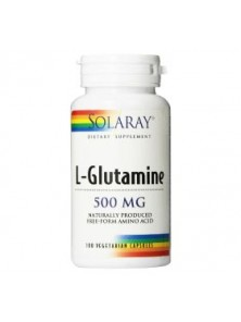 L-GLUTAMINE 500MG 50 CAPSULAS - SOLARAY - 076280049206