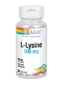 L-LYSINE 500MG 60 CAPSULAS - SOLARAY - 076280049404