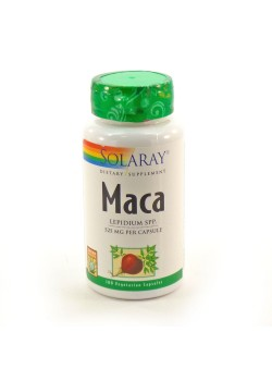 MACA 525MG 100 CAPSULAS - SOLARAY - 076280760125