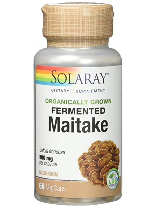 MAITAKE 500MG 60 CAPSULAS - SOLARAY - 076280908473