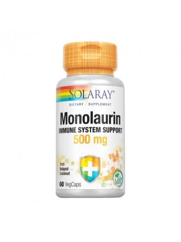 MONOLAURIN 500MG 60 CAPSULAS - SOLARAY - 076280627541