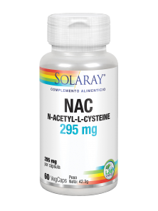 NAC 295MG 60 CAPSULAS - SOLARAY - 076280813531