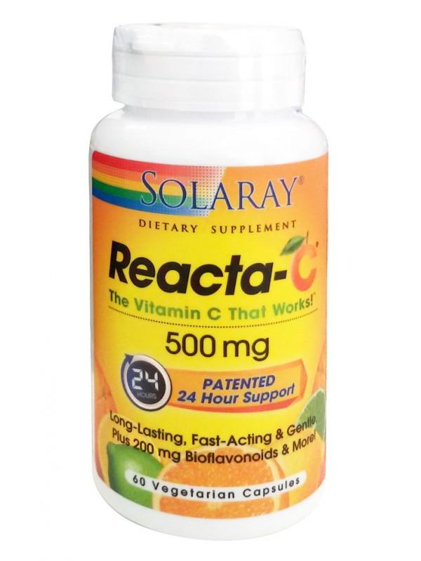 REACTA-C 500MG 60 CAPSULAS - SOLARAY - 076280743326