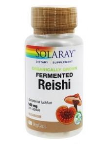 REISHI FERMENTADO 500MG 60 CAPSULAS - SOLARAY - 076280771169