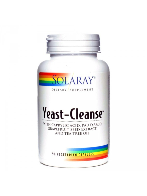 YEAST CLEANSE 90 VCAPS - SOLARAY - 076280119220