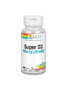 SUPER D3 4000IU 100 PERLAS - SOLARAY - 076280316476