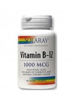 VITAMINA B12 1000MCG + ÁCIDO FÓLICO 90 COMPRIMIDOS - SOLARAY - 076280439625