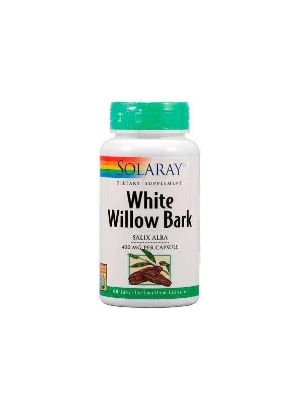 WHITE WILLOW (SAUCE BLANCO) 100 CAPSULAS - SOLARAY - 076280016604