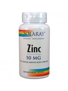 ZINC 50MG 60 CAPSULAS - SOLARAY - 076280471021