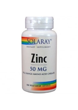 ZINC CITRATO 50MG 60 CAPSULAS - SOLARAY - 076280676150