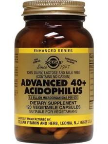 40 PLUS ACIDOPHILUS AVANZADO (NO LACTEO) 120 CAPSULAS - SOLGAR - 033984000292