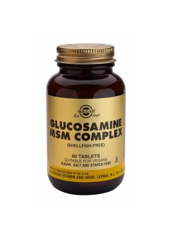 GLUCOSAMINA MSM COMPLEX 60 TABLETAS - SOLGAR - 033984013148