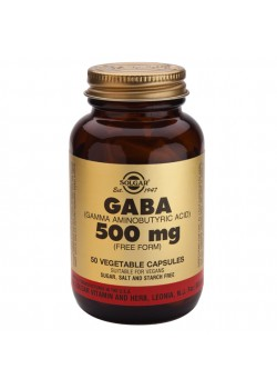 GABA 500MG 50 CAPSULAS - SOLGAR - 033984003897