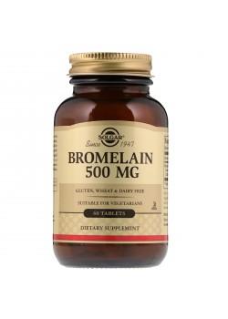 BROMELINA 500 MG. 60 COMPRIMIDOS - SOLGAR - 033984004658