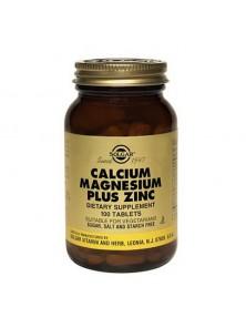 CALCIO - MAGNESIO - ZINC 100 COMPRIMIDOS - SOLGAR - 033984005204