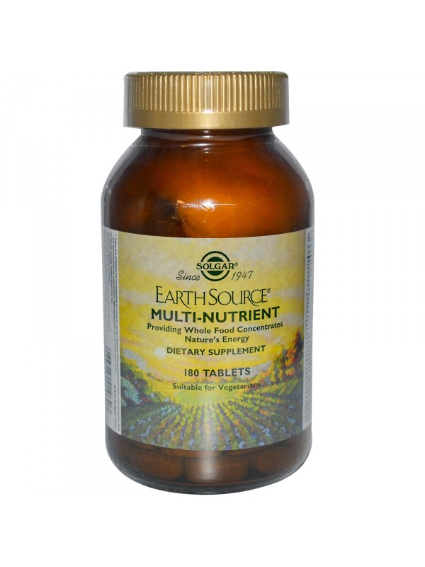 EARTH SOURCE (MULTIVITAMINICO Y MULTIMINERAL) 90 COMPRIMIDOS - SOLGAR - 033984010291