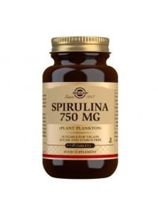 ESPIRULINA VEGETARIANA 750MG 80 CAPSULAS - SOLGAR - 033984005785