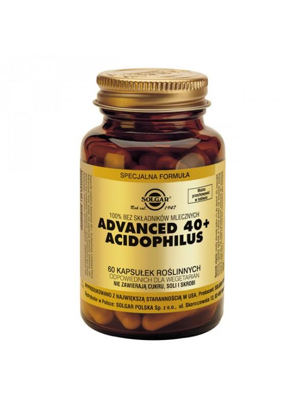 40 PLUS ACIDOPHILUS AVANZADO (NO LÁCTEO) 60 CÁPSULAS VEGETALES - SOLGAR - 033984000278