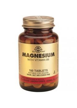 MAGNESIO + VITAMINA B6 100 COMPRIMIDOS - SOLGAR - 033984003859
