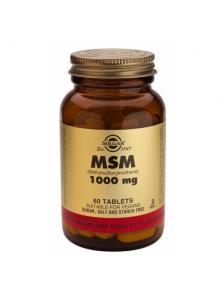 MSM (METHYL SULFONYL METHANE) 1000MG 60 COMPRIMIDOS - SOLGAR - 033984017337