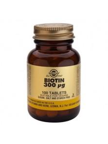 BIOTINA 300 µG. 100 COMPRIMIDOS - SOLGAR - 033984002807